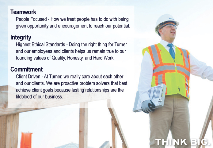 Turner Values | Turner Construction Company