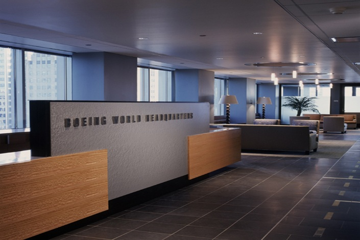 Boeing world headquarters turner construction company for Office interior contractor