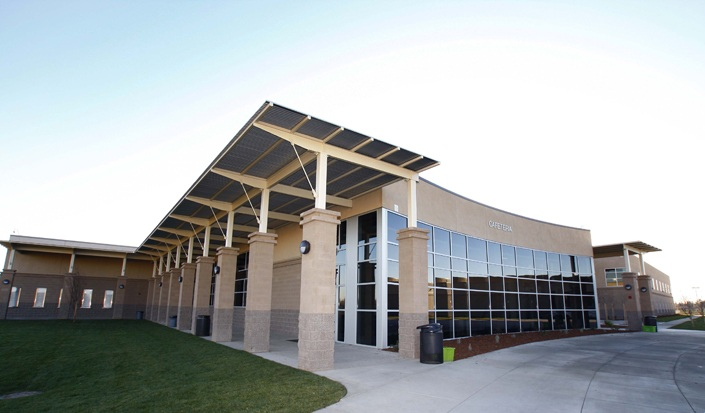 River city high school turner construction company for Exterior design institute