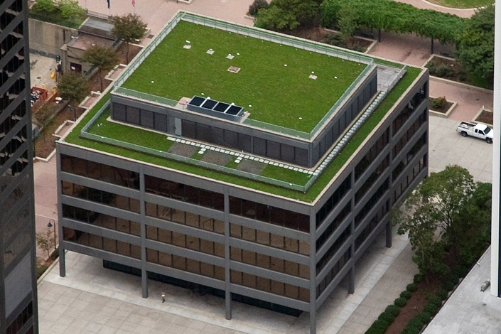 American Life Building Green Roof Turner Construction
