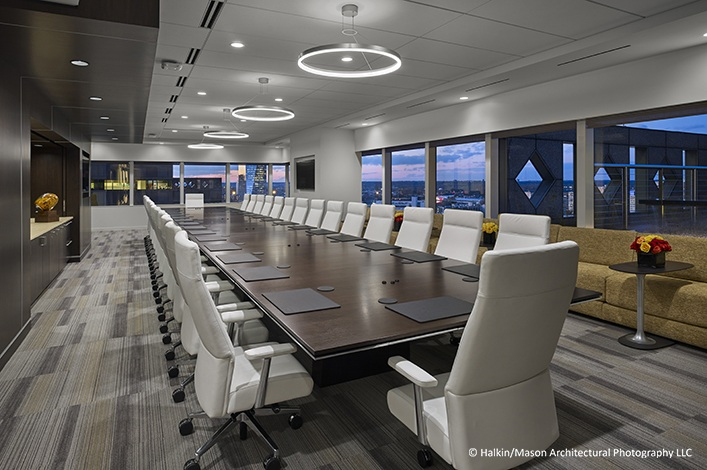 Confidential client offices turner construction company for Office interior contractor